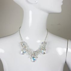Triple Pendant Swarovski Necklace with Sterling Silver by clipshop, $375.00