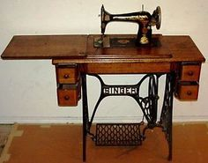 My grandmothers and even my mom, sewed on these old treadle sewing machines.