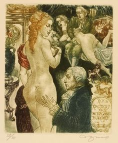 We're enjoying this fantastic collection of vintage erotic bookplates (ex libris) from a whole host of countries and decades, though beware, many of t. Ex Libris, Vintage Drawing, Window Art, Fantasy Illustration, Vintage Magazines, Erotic Art, Pin Up, Fine Art, Drawings