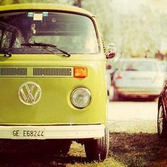 A photograph of a VW Samba bus done with style.