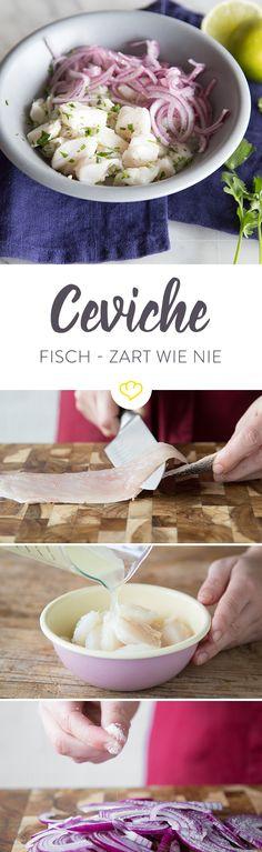 Roher Fisch ist nicht ganz so deins? Du willst aber dennoch nicht nur Fischstäbchen essen oder suchst mal eine Abwechslung zum Lachsfilet? Dann ist Ceviche vielleicht genau das Richtige für dich. Frischer Fisch wird mit Säure schonend gegart, sodass ein ganz eigener, milder Geschmack entsteht. Lust bekommen? Hier erfährst du alles, was du für die Zubereitung deiner eigenen Ceviche wissen solltest.