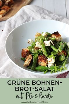Bohnen-Brot-Salat mit Feta und Rucola - - Expolore the best and the special ideas about Budget freezer meals Salad Recipes Healthy Lunch, Salad Recipes For Dinner, Chicken Salad Recipes, Lunch Recipes, Vegetarian Recipes, Budget Freezer Meals, Cooking On A Budget, Feta Salat, Bread Salad