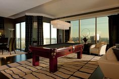 Billiard area with an impressive view .. Peachtree Rd penthouse Atlanta, GA
