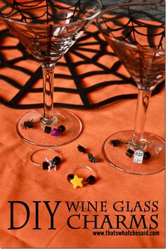 DIY Wine Charms at @cspangenberg | Halloween Party Ideas