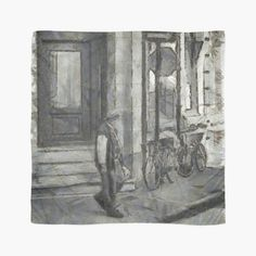 'Urban Collection - Old Man at the Corner in Town.' Scarf by