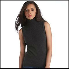 Lord & Taylor Cashmere Sleeveless Turtleneck Sweater at The Bay