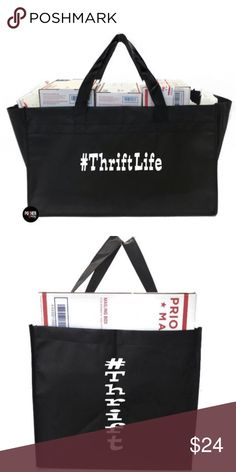 7e1cfe72a2 Thrift Life Extra Large Utility Tote Bag A PosherSwag Custom Creation   ThriftLife Extra Large