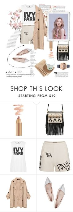 """Matchy : Ash Beige Pink Tone"" by yoanaxoxo ❤ liked on Polyvore featuring Balenciaga, Rebecca Minkoff, Topshop, Paul & Joe Sister, Giambattista Valli, Karl Lagerfeld, hairtrend and rainbowhair"