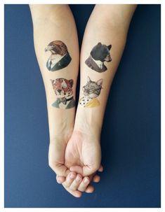 Temporary Tattoos Ryan Berkley Animal Art by berkleyillustration