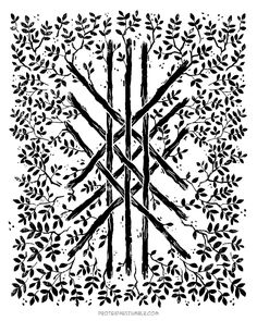 """""""The web of wyrd...contains every shape of the runes--hence it's sometimes called the 'allrune' and represents all past, present, and future possibilities. Built from 9 staves of flowering ash wood...Wyrd is an ancient and mysterious concept loosely compared to 'fate'...personal destiny was fixed, but there were limitless paths one could choose on a journey towards that destiny...The web ultimately represents a 'living' timeline...woven from individual choices that branch towards destiny."""""""
