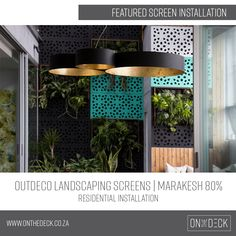 We supply the OUTDECO range of outdoor privacy screens. OUTDECO screens allow you to create beautiful, private spaces in your outside living area. Privacy Screen Outdoor, Garden Screening, Outside Living, Composite Decking, Outdoor Landscaping, Cladding, Living Area, Pergola, Commercial