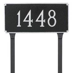 Montague Metal Products Madison Standard One Line Address Plaque Finish: White/Black