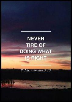 2 Thessalonians 3:13