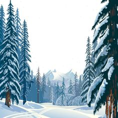 Vektor Winterwald, Winter Clipart, HD, Vektor PNG Transparent Clipart Bild und PSD-Datei f . Winter Vector, Snow Vector, Snow Forest, Forest Art, Winter Illustration, Forest Illustration, Fantasy Landscape, Landscape Photos, Winter Cliparts