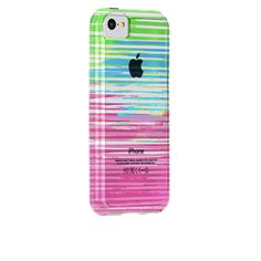 I want the #CaseMate Naked Tough Prints for iPhone 5c in Stripes/Clear Bumper from Case-Mate.com