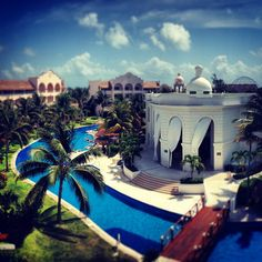 Excellence Riviera Cancun spa & lazy river area. http://www.excellence-resorts.com/