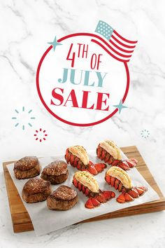 Celebrate the Fourth of July with a feast! From now until July 2nd, buy 4 mouthwatering Maine Lobster Tails and get 2 FREE. 🇺🇸  #LobsterGram #FourthOfJuly Lobster Gram, Lobster Pot Pies, Shrimp Cocktail Sauce, Maryland Style Crab Cakes, Alaskan King Crab, Filet Mignon Steak, Frozen Lobster, Best Crabs, King Crab Legs