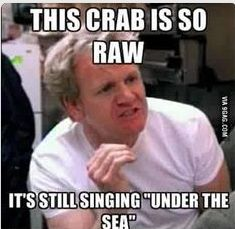 This Crab is so raw… its still singing under the sea.. lol http://www.FunnyBundle.com