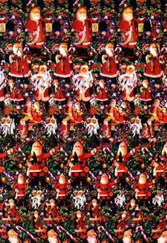 Stereogram: Santa Claus and Christmas Trees