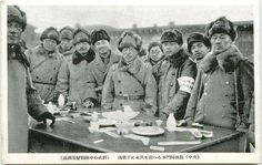 Japanese army officers in Manchuria