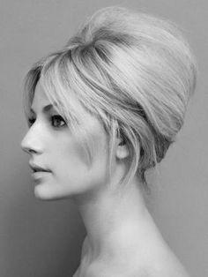 Bardot hair - Hair how to A Bardot updo Retro Wedding Hair, Wedding Hair And Makeup, Hair Makeup, Beehive Wedding Hair, Chic Wedding, Trendy Wedding, Rustic Wedding, Makeup Hairstyle, Vintage Updo