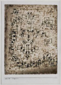 "Paul Klee 'Aircraft Plummeting' 1920 Watercolor 12.5 x 9.5"""