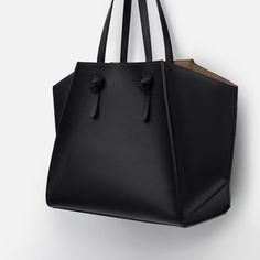 GEOMETRIC TOTE BAG SHOPPER | ZARA saved by #ShoppingIS