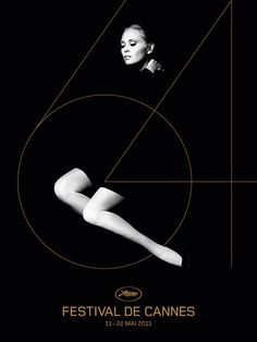 Festival de Cannes poster featuring photography by Jerry Schatzberg and artwork by H5