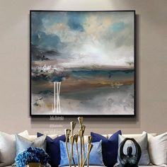 Landscape Paintings on CanvasLarge Wall ArtAbove Bed Art