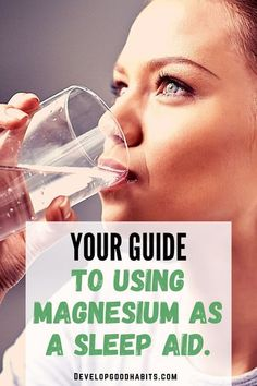 Your Guide to Using Magnesium As a Sleep Aid. | Learn how a magnesium supplement may be your ticket to improve sleep quality and quantity. Benefits Of Magnesium Supplements, Best Magnesium Supplement, Sleep Supplements, Magnesium For Sleep, Calm Magnesium, Restless Leg Syndrome, Insomnia Remedies, How To Sleep Faster, Sleep Help
