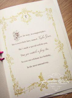 Jacqueline Dziadosz, Invitations & Design: Taylor's Fairy-tale Birthday Invitations