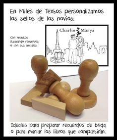 #Exlibris para parejas #Sellospersonalizados Ex Libris, Texts, Custom Stamps, Wedding Favors, Initials, Portraits, Couples