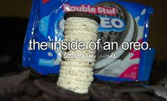 I wish this was the inside of an oreo...  #Delish #Cookies