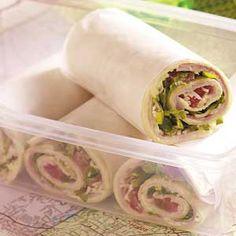 Taste of Home's Savory Ham Wraps.  Easy and yummy - great on-the-go dinner/lunch. (bringing them to the track meet tonight!)