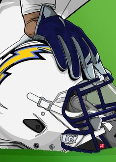 "NFL Team Helmets San Diego Chargers #Displate artwork by artist ""Akyanyme Dotcom"". Part of a 32-piece set featuring helmet designs based on team emblems from the NFL National Football League. £38 / $51 per poster (Regular size), £76 / $102 per poster (Large size) #NFL #NationalFootballLeague #AmericanFootball #SuperBowl #SanDiegoChargers #LosAngelesChargers #LAChargers #Chargers"