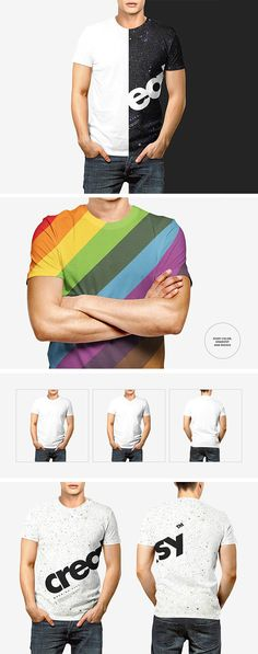 Free Men T-shirt Mockup Set