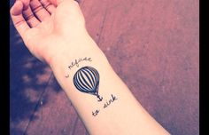 Other – 2pcs air balloon I refuse to sink temporary tattoo – a unique product by InknArt via en.DaWanda.com
