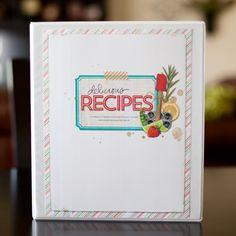 Recipe Binder Cover - Scrapbook.com