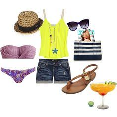 beachin', created by blairmoore on Polyvore
