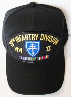 79TH INFANTRY DIVISION WORLD WAR II  W/ CAMPAIGN RIBBON BALL CAP/HAT #MILPRO #BallCap
