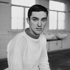 Portrait of footballer George Best during his first season for Manchester United, Manchester, England, United Kingdom, photograph by Popperfoto (photographer unattributed). Retro Football, Vintage Football, Football Soccer, Manchester United Legends, Manchester United Football, Manchester England, High School Soccer, Premier League Champions, Football Pictures