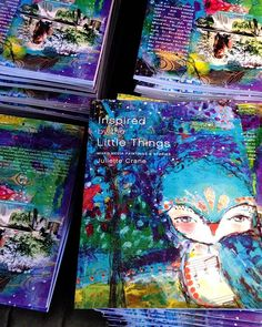 This photo is from a few years ago when I published my first book #InspiredByTheLittleThings  its a collection of my early paintings and stories. The ebook and softcover versions are available in my shop along with all of my coloring books. I hope they keep you inspired! // Ps. I'll be sharing all I've learned as a full-time artist and entrepreneur in Business For Creatives. There are just a few sale spaces left for the Fall 2018 session... if you'd like to join me you can find all of the…