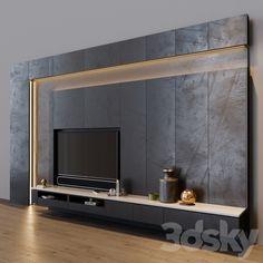 Tv Cabinet Design, Tv Wall Design, Wall Tv, Tv Wall Decor, Salas Home Theater, Living Tv, Living Rooms, Tv Feature Wall, Tv Unit Interior Design