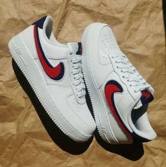 Tendance Sneakers 2018 : 69 Nike Air Force 1 Low Chenille Swoosh White Leather Sneakers - Sneakers Nike - Ideas of Sneakers Nike - Tendance Sneakers 2018 : 69 Nike Air Force 1 Low Chenille Swoosh White Leather Sneakers Adidas Sneakers, Shoes Sneakers, Nike Air Force 1, Baskets Adidas, Adidas Neo, Chenille, Dream Shoes, Custom Shoes, Leather Sneakers