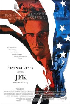JFK Director: Oliver Stone, starring Kevin Costner, Gary Oldman and Jack Lemmon. A New Orleans DA discovers there's more to the Kennedy assassination than the official story. Oliver Stone, Kevin Costner, Tommy Lee Jones, Michael Rooker, Gary Oldman, Movies And Series, Movies And Tv Shows, Great Films, Good Movies