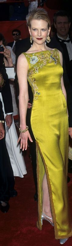 I want my front door painted precisely this shade of chartreuse - Nicole Kidman in John Galliano for Christian Dior, 1997