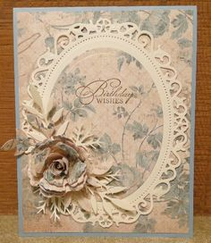 Floral Framed Birthday by jasonw1 - Cards and Paper Crafts at Splitcoaststampers