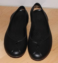 445179babcc1 Crocs Womens Slip On Closed Toe Slingback Flats-Black-Size 9  fashion