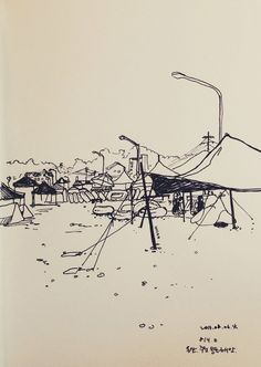 Jujeon Mong-dol beach in Ulsan / artpen on paper