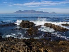 The view of Table Mountain from Robben Island, Cape Town Stuff To Do, Things To Do, Good Things, Table Mountain, Africa Travel, Cape Town, South Africa, Safari, Hiking